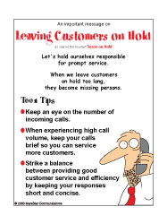 Leaving Customers on Hold poster